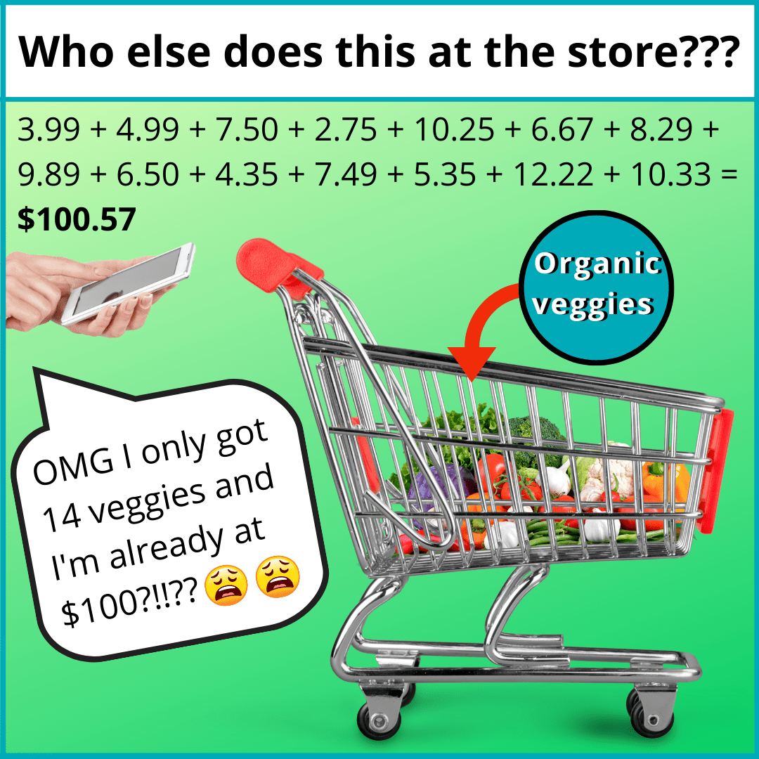 organic veggies are expensive